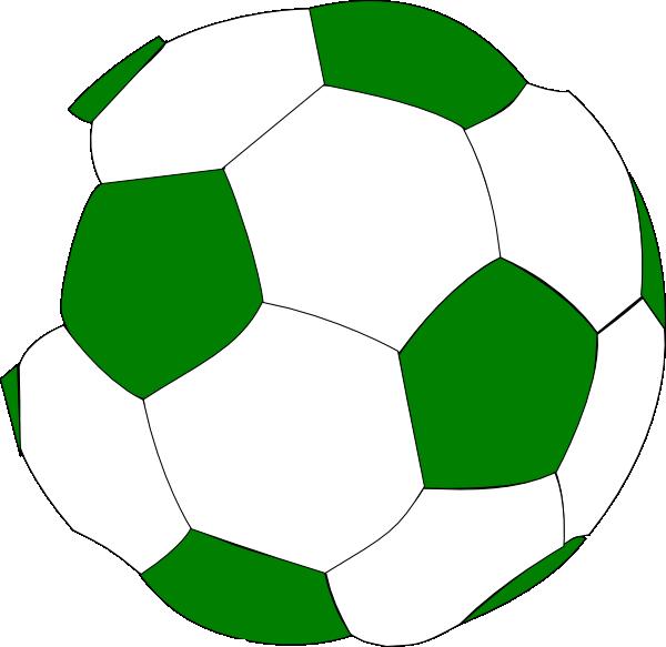 Green soccer ball clip art at clker com vector clip art