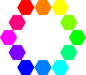 1 Point 12 Connected Hexagons Clip Art