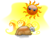 Hot Turkey Sun Clip Art