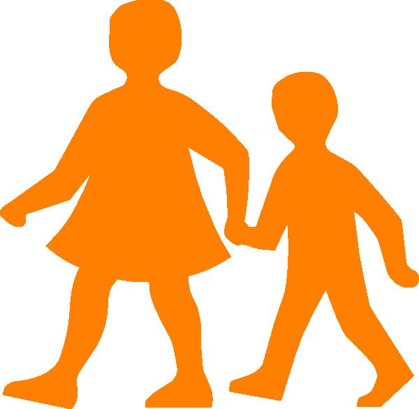 Children Walking Clip Art At Clker
