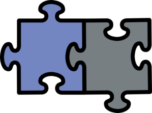 Blue And Grey Jigsaw Clip Art