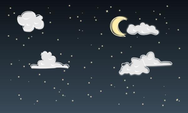 Night Sky Clip Art at Clker.com - vector clip art online ...