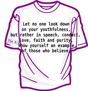 Christian Youth Shirt Clip Art