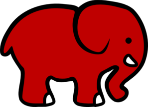 Bama Club Red Elephant Clip Art