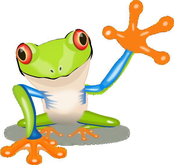 Waving Frog Clip Art at Clker.com - vector clip art online, royalty ...