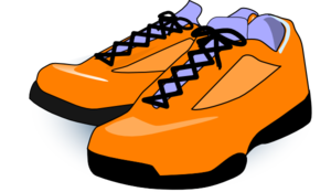 orange tennis shoes clip art at clker com vector clip art online rh clker com walking tennis shoes clip art tennis shoes clip art border