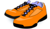 Orange Tennis Shoes Clip Art