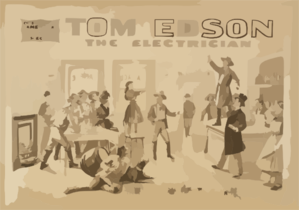 Tom Edson, The Electrician Chas. E. Blaney S American Comedy Drama Success. Clip Art