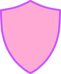 Pink And Purple Shield Clip Art