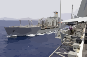 The Military Sealift Command (msc) Ship Usns John Ericsson (t-ao 194) Pulls Along Side Uss Nimitz Clip Art