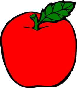 red apple clip art at clker com vector clip art online royalty rh clker com big red apple clipart red apple tree clipart