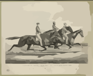 Toronto Chief, General Butler, And Dexter: In Their Great Race Under Saddles, Over The Fashion Course, L.i. July 19th, 1866 Clip Art