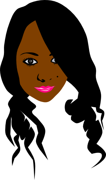 African Can American Girl Clip Art At Clker Com Vector
