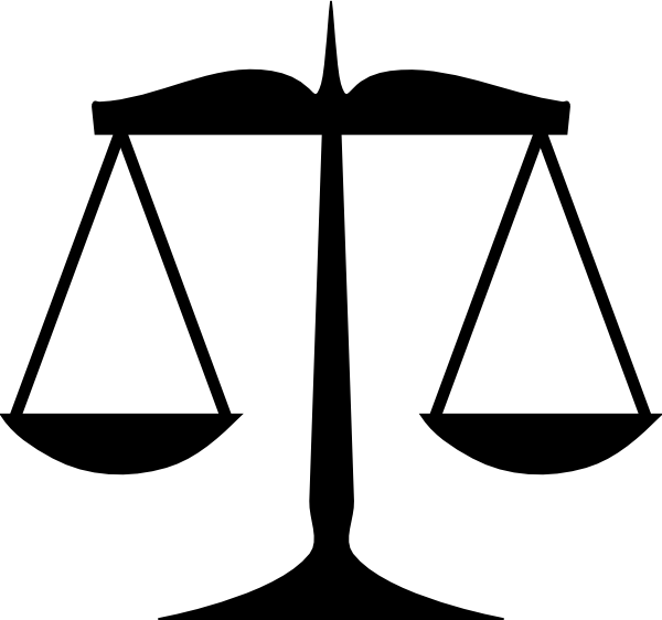 Scales Of Justice 3 Clip Art At Clker Com Vector Clip