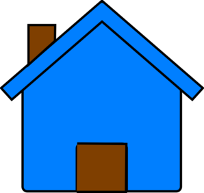 Blue And Brown House Clip Art