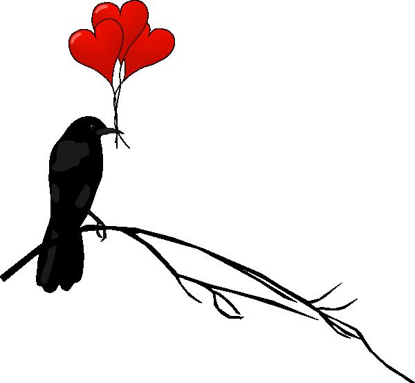 Raven With Balloons Clip Art at Clker.com - vector clip ...