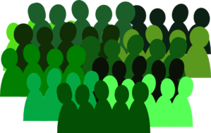 very green crowd clip art at clker com vector clip art online rh clker com crown clipart images crown clipart simple