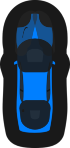 Blue Car - Top View - 60 Clip Art
