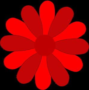 Red Gerber Daisy Clip ArtRed Daisy Clipart