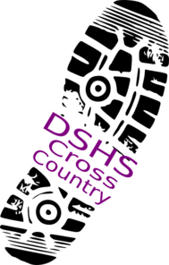 Cross Country Shoe Print Dshs Clip Art