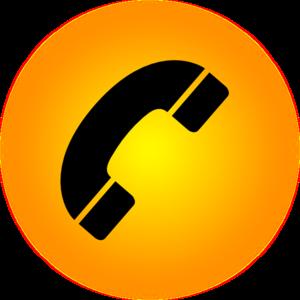 Orange Phone Icon Clip Art at Clker.com - vector clip art online ...