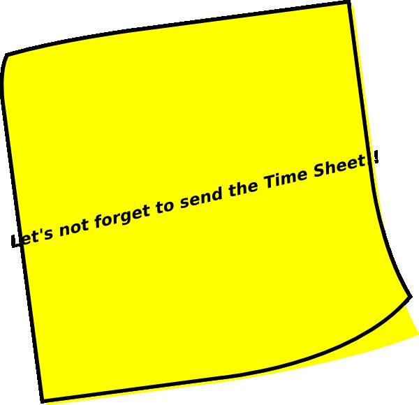 timesheet reminder clip art at clker com