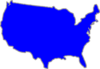 United States Blue Clip Art