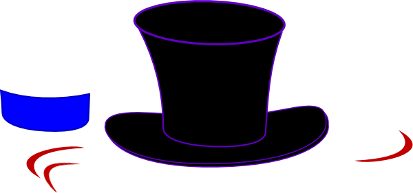 black top hat clip art at clkercom vector clip art