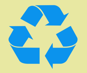 Recycle Symbol Blue On Tan Clip Art
