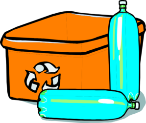 Recycle Orange Bin Bottles Clip Art