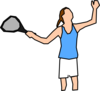 Girl Tennis Player Clip Art