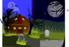 Halloween Haunted House1 Clip Art