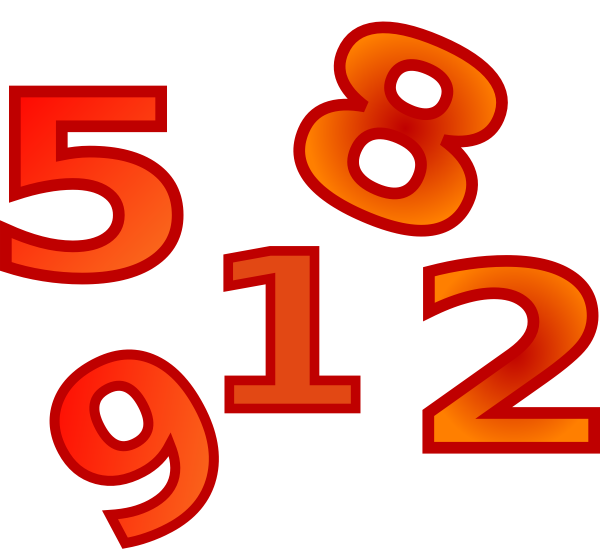 Numbers Clipart Christmas 1 25 | Search Results | Calendar 2015