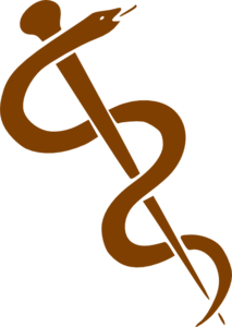 Rod Of Asclepius-dark Brown Clip Art Clip Art