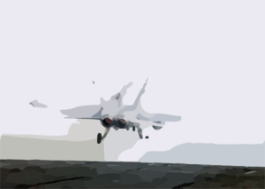 F/a-18  Hornet  Launches From The Flight Deck Of The Uss George Washington. Clip Art
