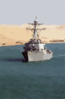 The Guided Missile Destroyer Uss Mitscher (ddg 57) Transits The Suez Canal Clip Art
