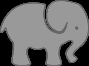Gray Elephant Clip Art at Clker.com - vector clip art ...