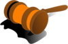 Justice Gavel Color Orange Clip Art