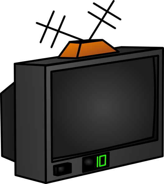 watching tv clipart. Tv clip art