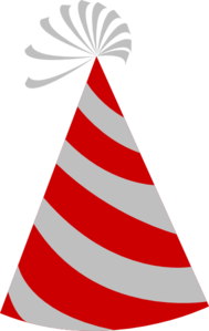 Red And Grey Party Hat Clip Art
