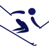 Blue Skiier clip art