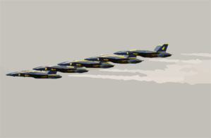 The U.s. Navy Flight Demonstration Team, The Blue Angels Perform In The Final Show Of The 2003 Season Clip Art