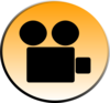 Gold Video Icon Clip Art