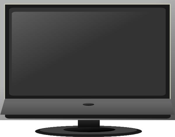 flat screen tv clip art at clker com vector clip art online