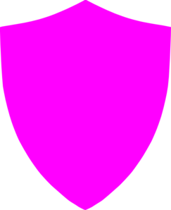 Pink Football Shield Clip Art