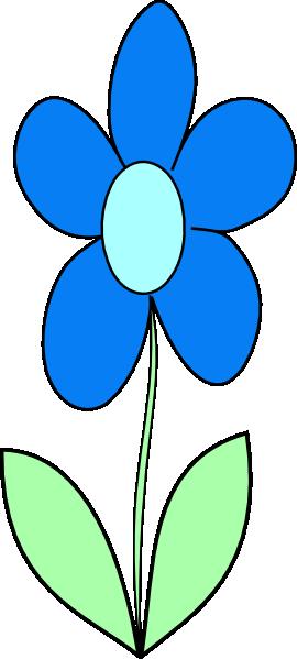 blue flower clip art at clker com vector clip art online royalty rh clker com blue flower clip art free blue flower border clipart