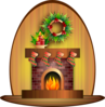Christmas Fire Clip Art