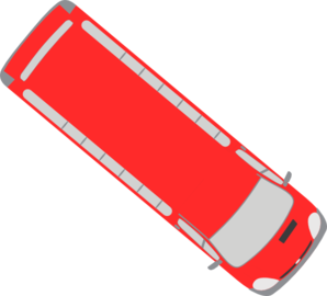 Red Bus - 320 Clip Art