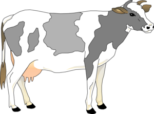 Cow 10 Clip Art at Clker.com - vector clip art online, royalty free ...