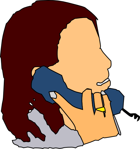 Talking In The Phone Clip Art at Clker.com - vector clip ...